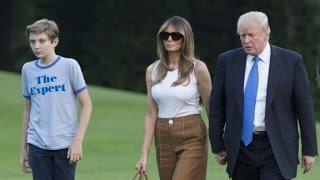 Melania Trump moves into the White House