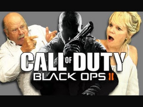 Elders React to Call of Duty Black Ops 2 (Trailer &amp; Gameplay)