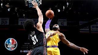 LeBron, Lonzo's big nights not enough to top Nets | NBA Highlights