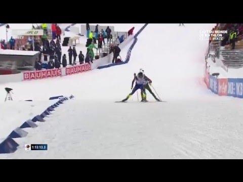 Premier titre pour l'équipe de France de biathlon sur le relais mixte à Oslo