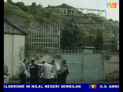 A bombed gun attack on hydroelectric power station @ Russia (Nightline 22/7/10)