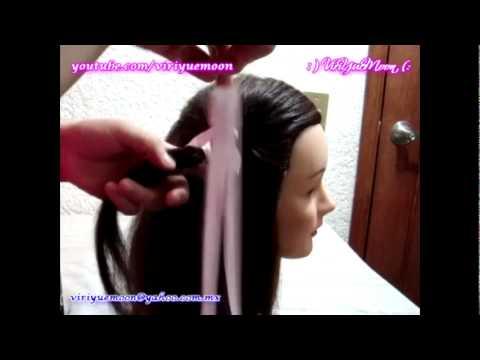 Peinado para niñas  con listón
