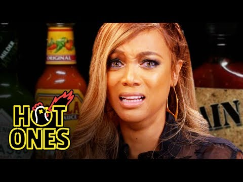 Tyra Banks Cries For Her Mom While Eating Spicy Wings | Hot Ones
