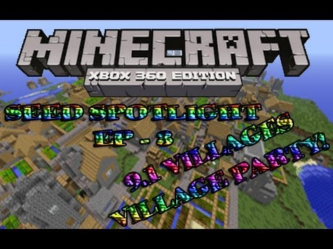 Minecraft (Xbox 360) - Best seed ever? 9.1 VILLAGES AND MORE!!!