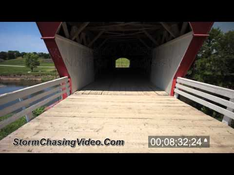Covered Bridges Of Madison County Iowa Stock Footage B-Roll