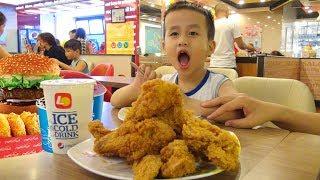 Trò chơi Bé Đức ăn Gà Rán Lotteria ♥ Eating fried chicken