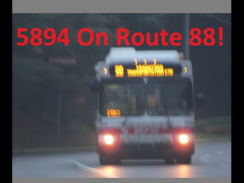 NeoplanDude SEPTA 2004 New Flyer D40LF #5894 Hauling Ass With Reverse Gear Action!!! On Route 88!