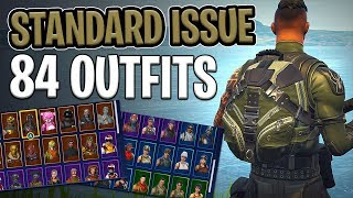 Standard Issue Back Bling on 84 Outfits - Fortnite Cosmetics