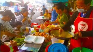 Eating Cambodian Traditional  Foods - Yummy And Cheap - Cambodian Street Food