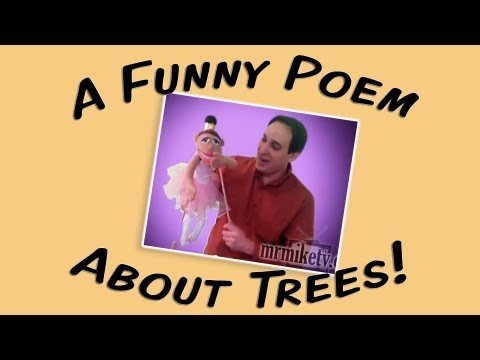 A Very Funny Kids' Poem About Trees (for Arbor Day earth Day) video