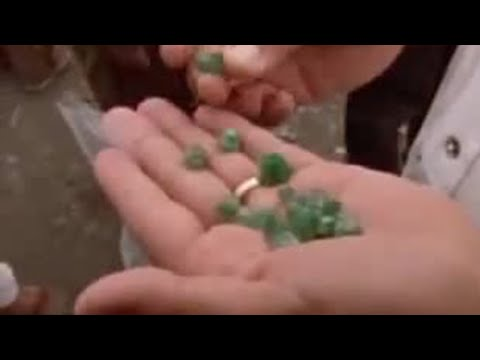 Michael Palin visits an emerald mine in Colombia - BBC