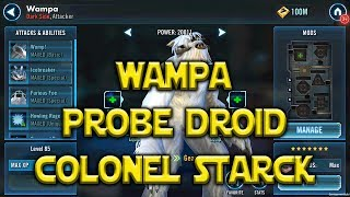 Star Wars: Galaxy Of Heroes - Wampa - Probe Droid - Colonel Starck - Kit Reveals