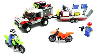 Lego City 4433 Dirt Bike Transporter Speed Build And Review