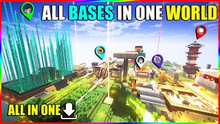 All youtuber base in one world - techno gamerz , beastboyshub , mythpat minecraft base in one world