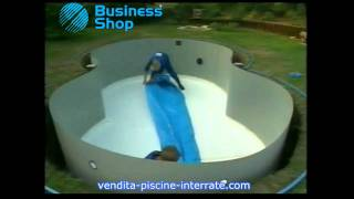 Piscina interrata RIVA Zodiac a forma di otto in kit fai da te, video installazione