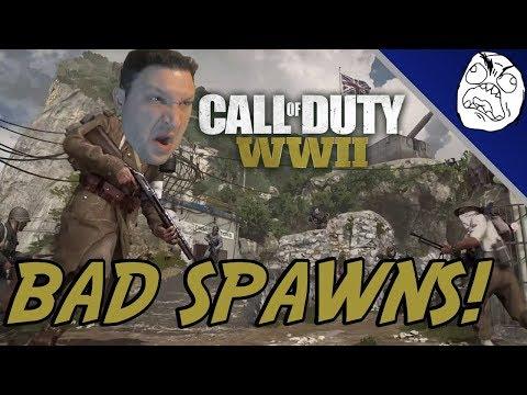 Call of Duty WWII Rage Compilation: 3/1000 Bad Spawns!! (COD WW2 Rage)