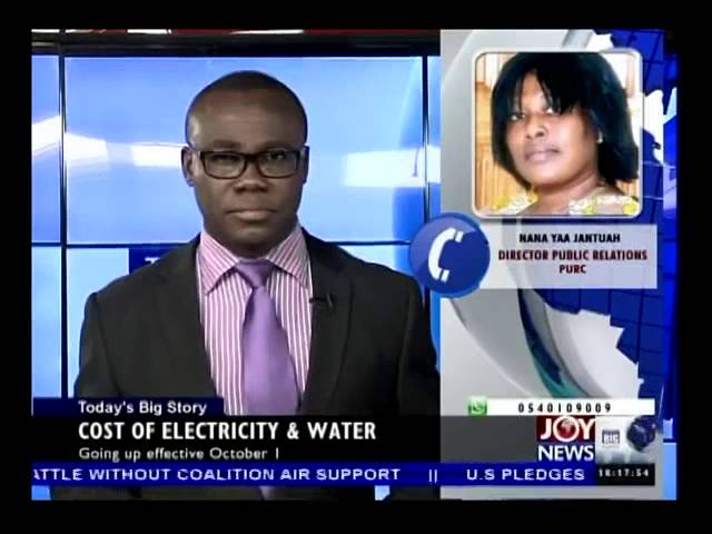 PURC Approves Tariff Increases - Today's Big Story on Joy News (30-9-14)
