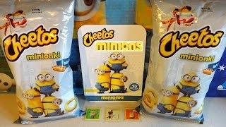 2015 Minions Movie Limited Edition Album & Cheetos Snacks Surprise Stickers European Collection 迷你小兵