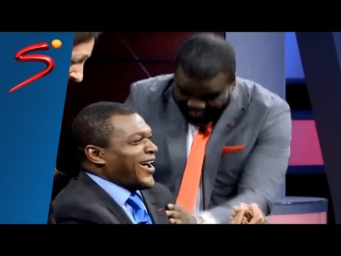 Sammy Kuffour Marcel Desailly studio celebrations