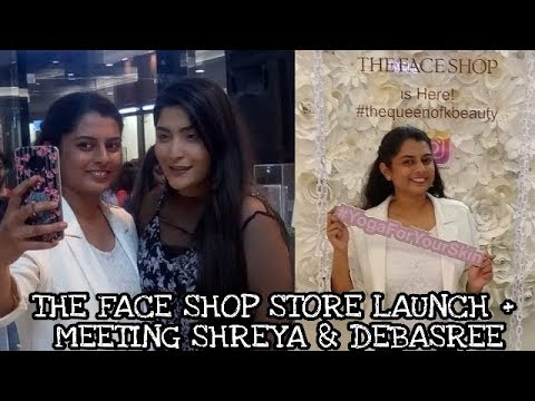 Meeting Shreya & Debasree | The Face Shop India First Offline Store Launch | Mumbai Vlog