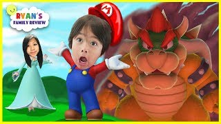 Ryan and Mommy Game night! Let's play Mario Party 10 with Ryan's Family Review