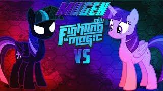Mugen Fighting Is Magic Nightmare Sparkle VS Princess Twilight Sparkle