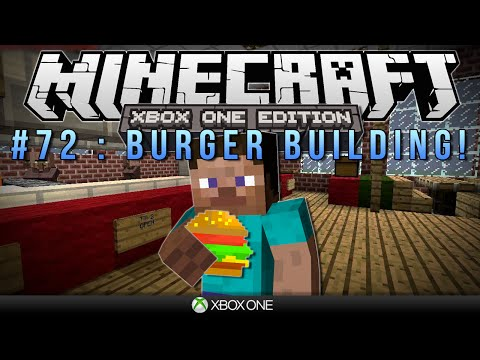 Minecraft Xbox BURGER BUILDING Survival #72