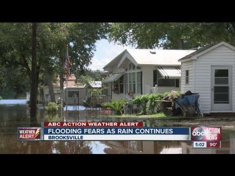 Flooding fears continue tonight near Brooksville, Fla.