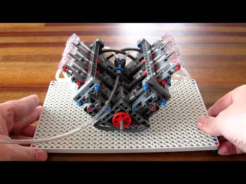 Lego Pneumatic Engine - simple V6