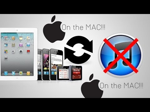 How to put music onto an ipod & iphone without itunes WITH A MAC!