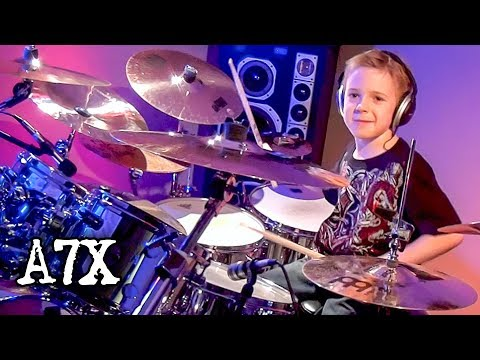 BEAST AND THE HARLOT  A7X 7 year old Drummer Drum   Avery Drummer Molek