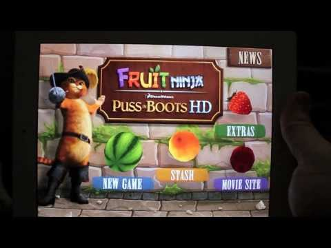 Fruit Ninja: Puss in Boots App Review iPhone/iPod/iPad (Universal)
