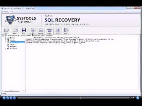SQL Data Recovery Tool - Repair and Recover Corrupt SQL Server Database