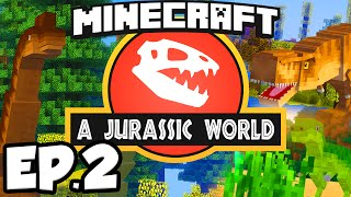 Jurassic World: Minecraft Modded Survival Ep.2 - UDDERSHOT!!! (Rexxit Modpack)