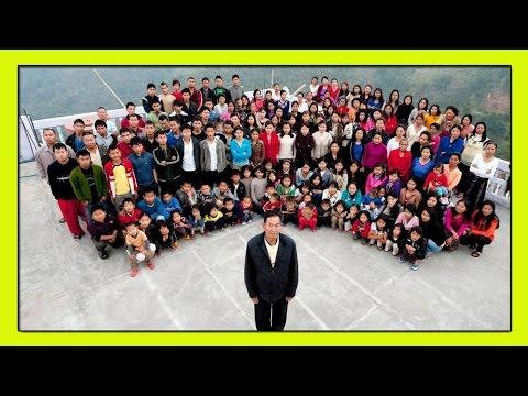 70 летний Индиец Зиона Чана и Его 39 Жен! САМАЯ БОЛЬШАЯ СЕМЬЯ В МИРЕ