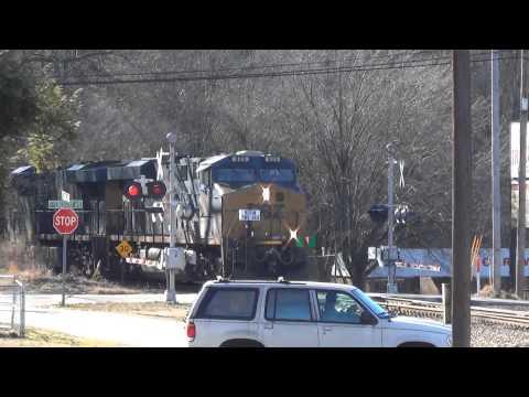 CSX: a mixed freight train NB / Roebuck & Spartanburg SC
