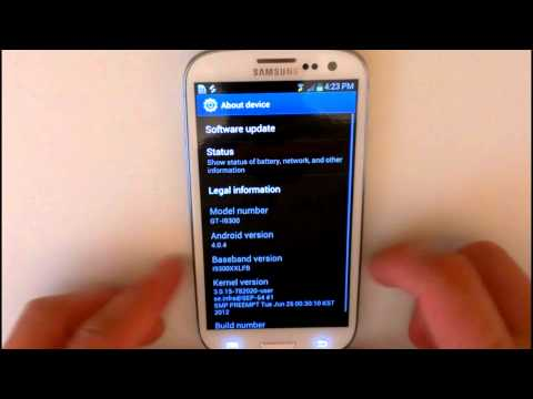Samsung Galaxy S3 - Firmware update I9300XXLFB