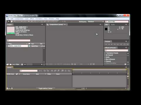 After Effects CS5 Parte 1 Introduccion, Interface, Workspace
