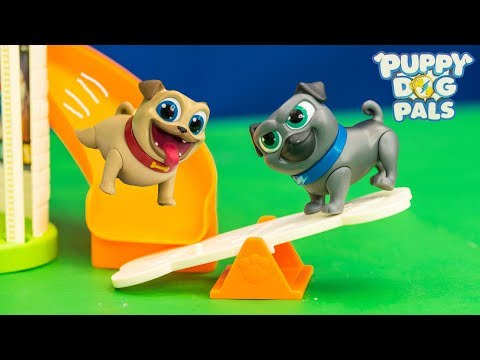 PUPPY DOG PALS Disney Rolly and Bingo Puppy Doghouse Funny New Toys Video