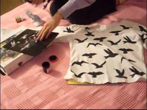 DIY estampado ave