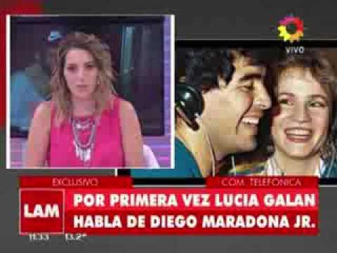 Lucía Galán: Maradona supo desde el primer momento que Diego Jr. era su hijo