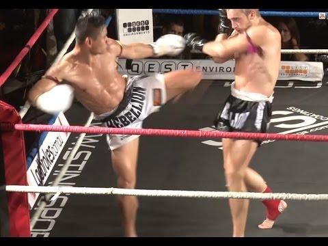 Muay Thai Fight - Sam Bark Vs Tum Sityodtong, Rebellion Muay Thai, Melbourne- 28th November 2015