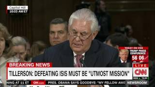 In opening statement, Tillerson blasts Obama