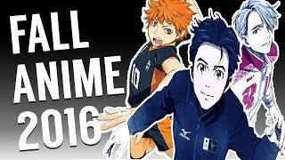 TOP ANIME RECOMMENDATIONS FALL 2016