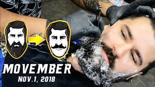 Movember 2018 - ItsMrSparks2U trades in beard for a Handlebar mustache