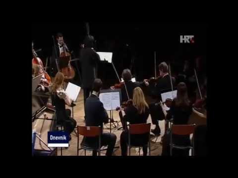 Zagreb chamber orchestra HRT news clip