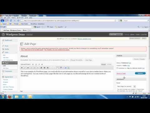 Opace Wordpress Video Tutorials 2: How to Rearrange Menu Items