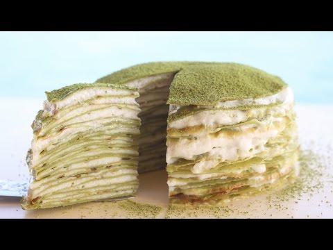 Te Matcha mille CREPE cake Pastel  抹茶千层蛋糕 - LIGHT