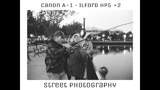 Street Photography Vlog (Canon A-1 x Ilford Hp5)