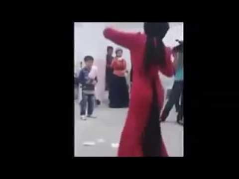 Muslim girl dancing freaky